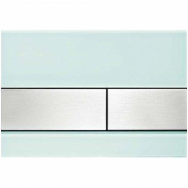 Vandens nuleidimo plokštelė Tece square glass 10