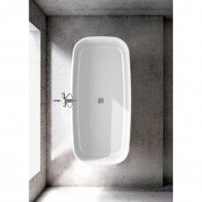 Akmens masės vonia VAYER VOLANS 1510x720 balta