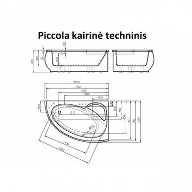 Akmens masės vonia Piccola 1575x950 Vispool 4