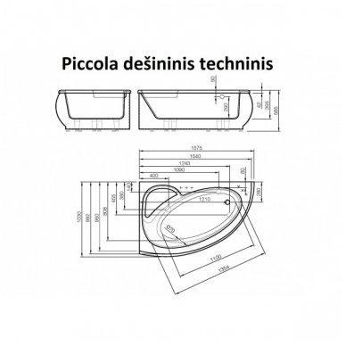 Akmens masės vonia Piccola 1575x950 Vispool 5