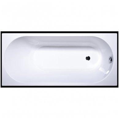 Akmens masės vonia Vispool Libero stačiakampė balta 2
