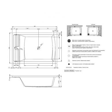 Akrilinė dvivietė vonia RIHO SAVONA 190x130 5