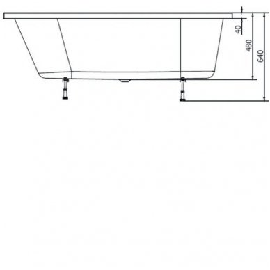 Akrilinė vonia Astra L 165x80 3