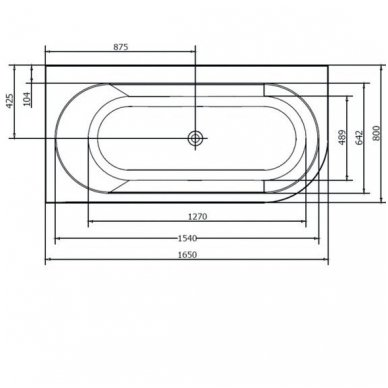 Akrilinė vonia Astra L 165x80 2