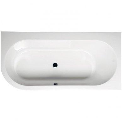 Akrilinė vonia Astra R 165x80 cm 2