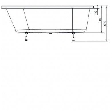 Akrilinė vonia Astra R 165x80 cm 4