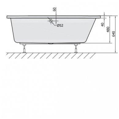 Akrilinė vonia Astra R 165x80 cm 6