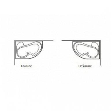 Akrilinė vonia Ravak Asymmetric 5