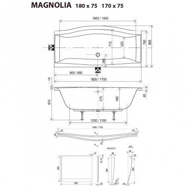 Akrilinė vonia Ravak Magnolia 7