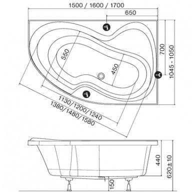Akrilinė vonia Ravak Rosa II 7