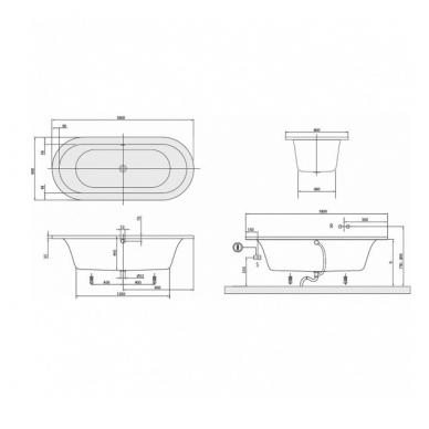 Akrilinė vonia Villeroy&Boch Loop&Friends Oval Duo 180x80 2
