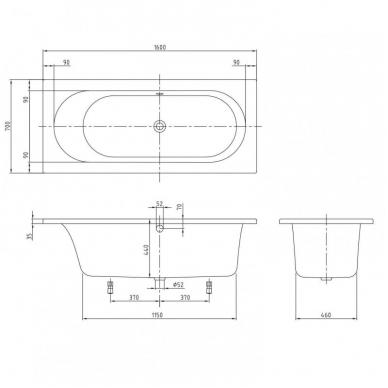 Akrilinė vonia Villeroy&Boch Loop&Friends Square Oval Duo 2