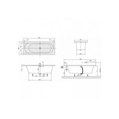 Akrilinė vonia Villeroy&Boch Loop&Friends Square Oval Duo 3