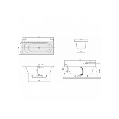 Akrilinė vonia Villeroy&Boch Loop&Friends Square Oval Duo 4