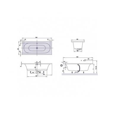 Akrilinė vonia Villeroy&Boch Loop&Friends Square Oval Duo 5