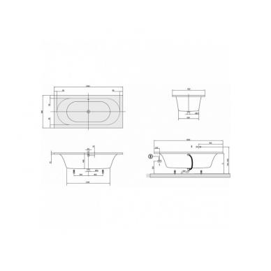 Akrilinė vonia Villeroy&Boch Loop&Friends Square Oval Duo 6