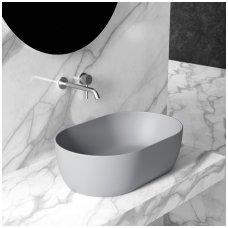 Ant stalviršio pastatomas praustuvas-dubuo Alice Ceramica Unica 550x350 mm.