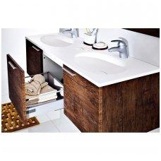 Antado pakabinama vonios spintelė su dvigubu praustuvu