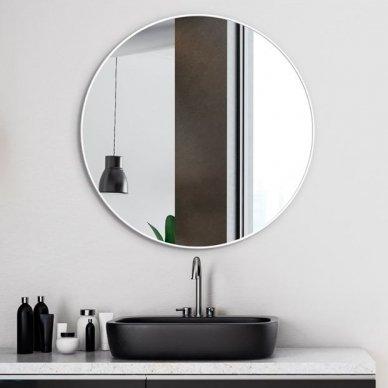 Apvalus veidrodis Ruke Scandinavia Delicate siaurame rėmelyje (spalvų ir dydžių pasirinkimas) 3