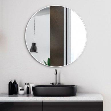 Apvalus veidrodis Ruke Scandinavia Delicate siaurame rėmelyje (spalvų ir dydžių pasirinkimas) 4