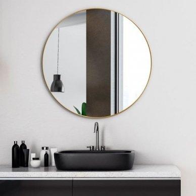 Apvalus veidrodis Ruke Scandinavia Delicate siaurame rėmelyje (spalvų ir dydžių pasirinkimas) 5