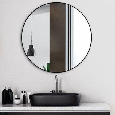 Apvalus veidrodis Ruke Scandinavia Delicate siaurame rėmelyje (spalvų ir dydžių pasirinkimas)