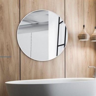 Apvalus veidrodis Ruke Scandinavia Delicate siaurame rėmelyje (spalvų ir dydžių pasirinkimas) 2
