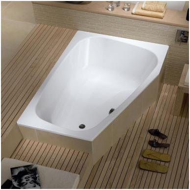Asimetrinė plieninė vonia Kaldewei Plaza Duo 180x120 2