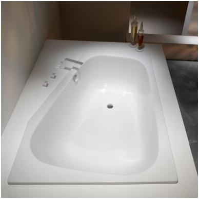 Asimetrinė plieninė vonia Kaldewei Plaza Duo 180x120 3