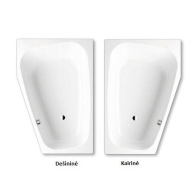 Asimetrinė plieninė vonia Kaldewei Plaza Duo 180x120 6