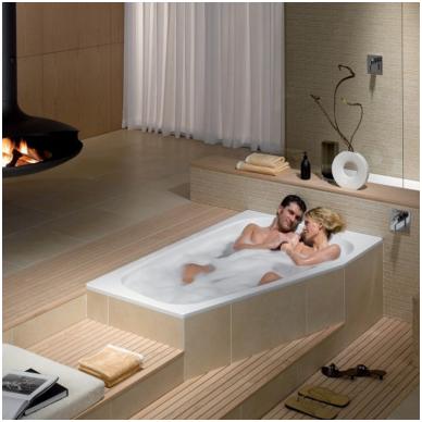 Asimetrinė plieninė vonia Kaldewei Plaza Duo 180x120