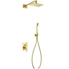 Aukso spalvos potinkinė dušo sistema Omnires Darling SYS DA18 ZL