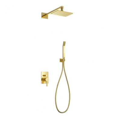 Aukso spalvos potinkinė dušo sistema Omnires Darling DA18