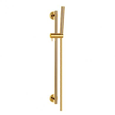 Aukso spalvos rankinio dušo komplektas Omnires Microphone-S