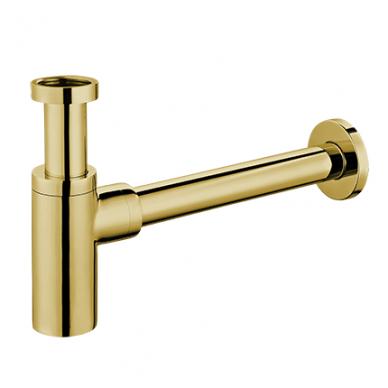 Aukso spalvos sifonas praustuvui