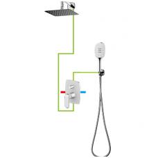 Baltos/chromo spalvos potinkinė dušo sistema Omnires Sacramento SYS SC10 CRB