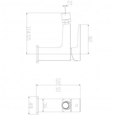 Bidė maišytuvas Omnires Parma PM7420 2