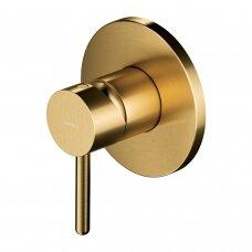 Braižyto aukso spalvos potinkinis dušo maišytuvas Omnires Y1245GLB Y