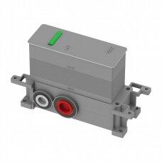 Braižyto aukso spalvos potinkinis termostatinis vonios/dušo maišytuvas su 2 išėjimais Omnires