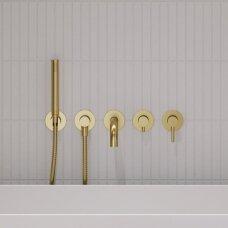 Braižyto aukso spalvos sieninis 5 skylių maišytuvas voniai Y1237/1GLB