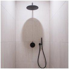 Bugnatese Kobuk potinkinė dušo sistema su dušo galva ir rankiniu dušeliu