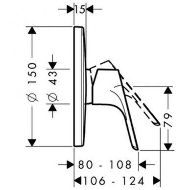 Dekoratyvinė dalis Hansgrohe Focus E2 potinkiniam dušo maišytuvui 2