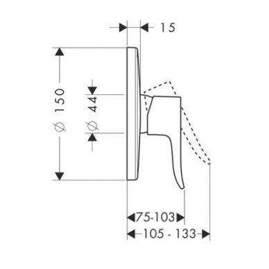 Dekoratyvinė dalis Hansgrohe Metris potinkiniam dušo maišytuvui 2