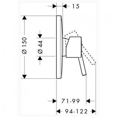 Dekoratyvinė dalis Hansgrohe Talis S potinkiniam dušo maišytuvui 2