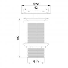 Dugno vožtuvas Omnires A82CR chromo spalvos praustuvams be perlajos