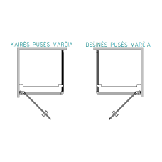 Dušo kabina Baltijos Brasta KRISTINA Nero Frame su skaidriu stiklu (dydžių pasirinkimas)