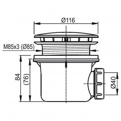 Dušo durų Ravak Pivot PDOP1 ir stacionarios sienelės Pivot PPS komplektas 9