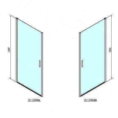 Dušo durys Polysan Zoom Line Black 4