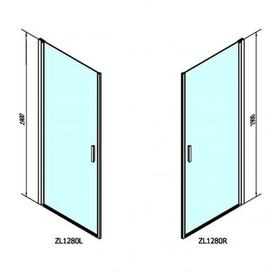 Dušo durys Polysan Zoom Line Black 5