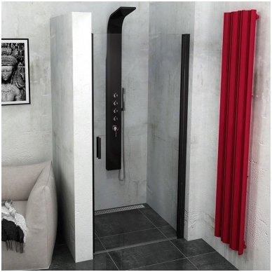 Dušo durys Polysan Zoom Line Black
